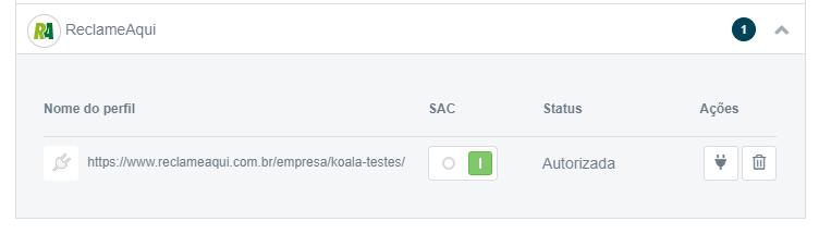 SAC habilitado